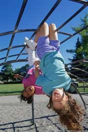 Children on a playground; Size=180 pixels wide